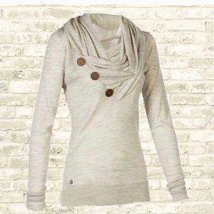 NWOT. Neutral Casual Cowl Neck Tunic Sweatshirt